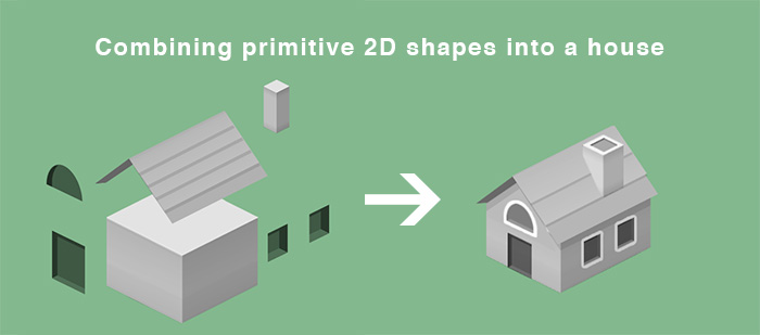 Photoshop 3D Shapes Isometric House Game Design Pocket City