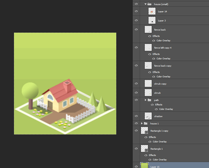 Pocket City Photoshop Isometric House Tutorial